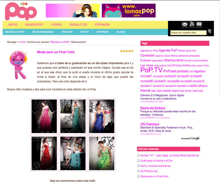 pagina lo mas pop