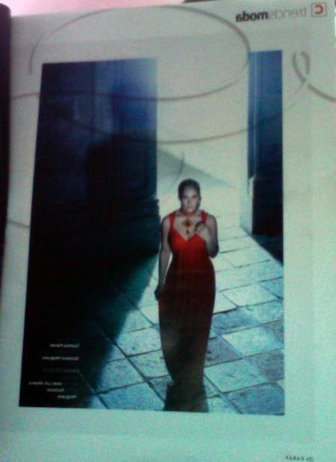 vestido rojo, trends moda, mayo  revista caras