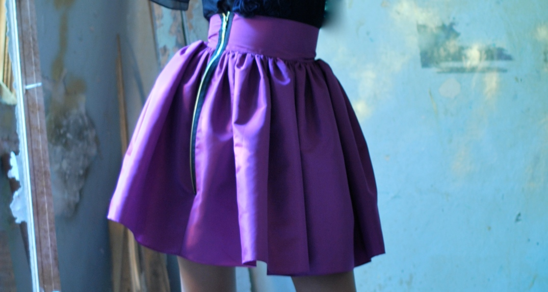 (SKIRT) DORIS $850 JADE MAGENTA NAVY BLACK ROYAL BLUE